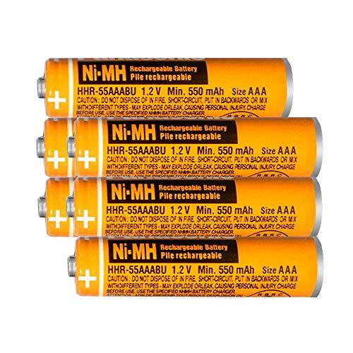 6 X AAA Akku NI-MH Wiederaufladbare Batterien 1.2v 550mah Micro,für schnurlose Telefone