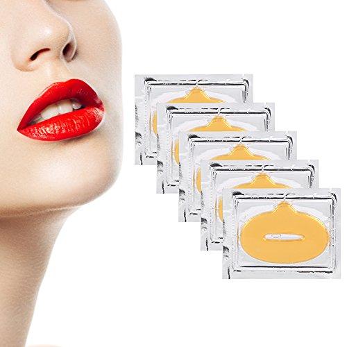 50 Stück Collagen Lippe Maske Kristall Lippe Film Paste/Lippen Pads Film Abdeckungs Anti-Alternfeuchtigkeits Essenz Peeling Membrane, Beauty Make-up Lippenpflege Zubehör