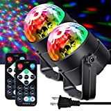 Best Disco Lights - Apeocose 2-Pack Sound Activated Disco Ball Lights Review
