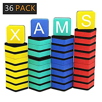 [BIG SALE] Dry Erase Erasers 36 Pack Magnetic Whiteboard Eraser Chalkboard Cleaner Board Wiper Erase Pens and Markersfor Classroom Home Office