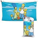 Toallas De Playa,Simpsons - Toalla De Baño Unisex De Secado Rápido, Toallas De Playa Unisex para Correr, Acampar, Deportes,70x140cm