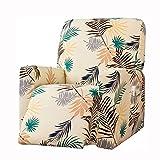 LVLUOKJ Antideslizante Sillón Reclinable Funda Jacquard Elástica Funda de sillón con Bolsillo Lateral Sillón eléctrico Funda reclinable (Color : Yellow)