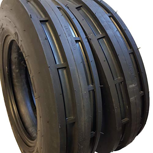 (2 TIRES + 2 TUBES) 6.00-16 8 PLY ROAD CREW ST-1, F2 3-Rib Farm Tractor Tire 6.00x16