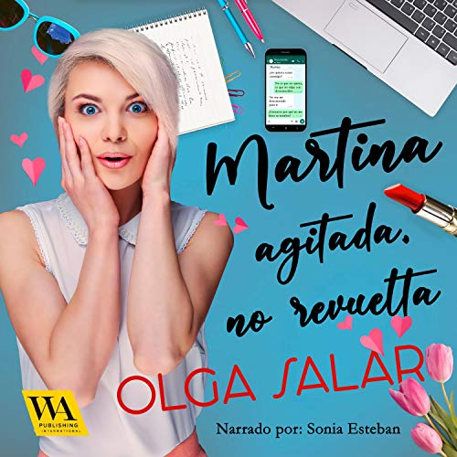 Diseño de la portada del título Martina agitada, no revuelta