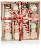 com-four 8 Colgantes Premium de Santa Claus para el árbol de Navidad, Varios Colgantes de Figuras de árboles de Navidad como Adornos para árboles, Adornos navideños o Etiquetas de Regalo