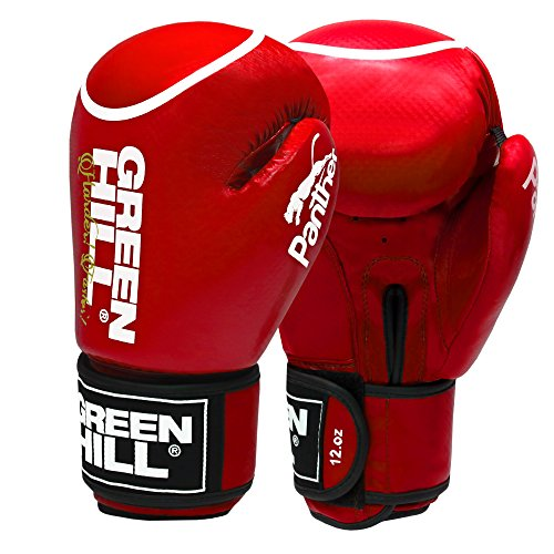 Greenhill Panther With Circle bokshanschoenen, Muay Thai bokszak, sparring kickboksen training zandzak synthetisch leer boxing handschoenen