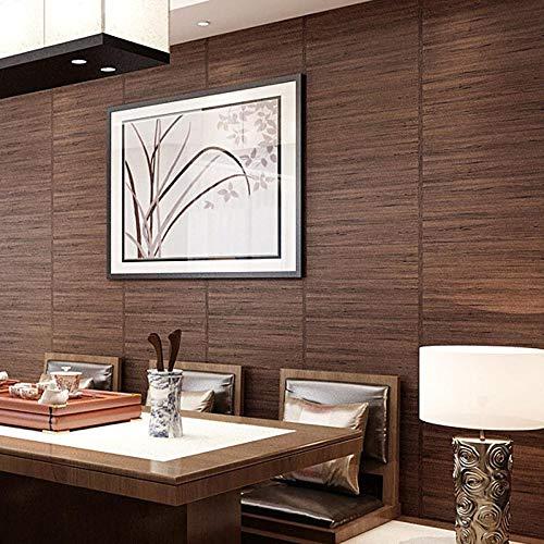 ACCEY Carta da parati cinese retrò grano di legno imitazione paglia vento giapponese ristorante sushi soggiorno camera da letto tatami carta da parati
