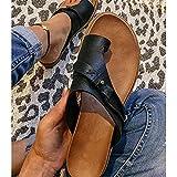 ZANLION Women's Orthotics Sandals Correction PVC Fabric Open Toe Slippers Flat...