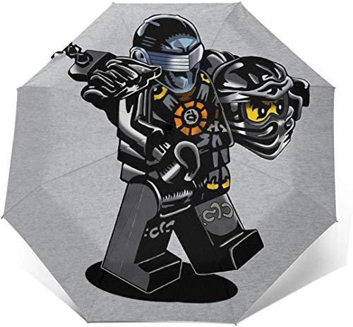 G I Joe Ninjago Cole Winddichter, kompakter, automatisch zu öffnender und zu schließender Taschenschirm, automatischer, Faltbarer Sonnenschirm für die Reise