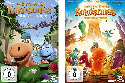 Der Kleine Drache Kokosnuss - Kinofilme 1+2 (feuerfeste Freunde + auf in den Dschungel) im Set - Deutsche Originalware [2 DVDs]