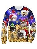 Green Turtle T-Shirts Jersey Navidad 3D Sudadera Unisex Navidad Large
