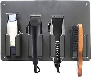 TUU Barber Shop Electric Hair Cutter Stand Holder, Salon Appliance Rack, Bathroom Comb Storage Stand, Electric Clipper Storage Convenient (Black)