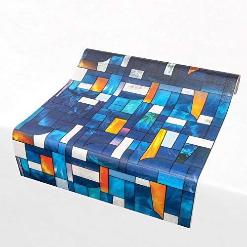 atFoliX Fensterfolie nach Maß - Lichtdurchlässige 3D Sichtschutzfolie Glasdekorfolie Bleiglas Abstrakt Milchglasfolie - Länge und Breite auf Wunsch auswählen
