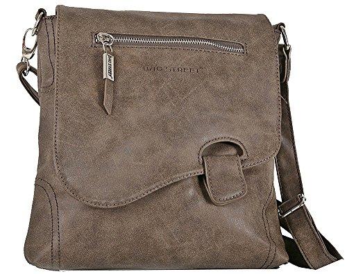 Bag Street Bolso de Hombro para Mujer marrón 26 x 6 x 26 cm