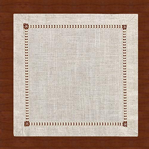 Grelucgo Extra Long Handmade Hemstitched Natural Rectangle Lace Table Runners (14x144 inch)