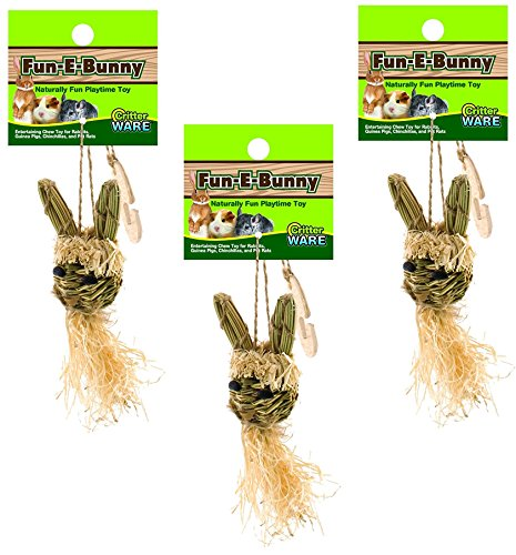 (3 Pack) Ware Manufacturing Natural Fun-E-Bunny Small Pet Chew Toys