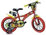 giordanoshop Bambino, Dino Bikes-Bicicletta 14' Bing Rossa 2 Freni, 3