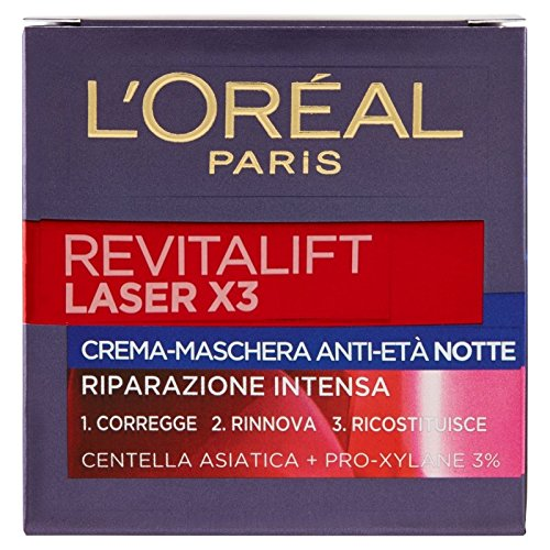 L 'Oréal Paris Revitalift Láser X3crema-maschera Ampollas hidratantes Noche 50ml