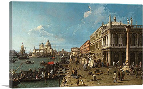 "ARTCANVAS Colonna di San Teodoro 1735 Canvas Art Print by Canaletto - 26"" x 18"" (0.75"" Deep)"