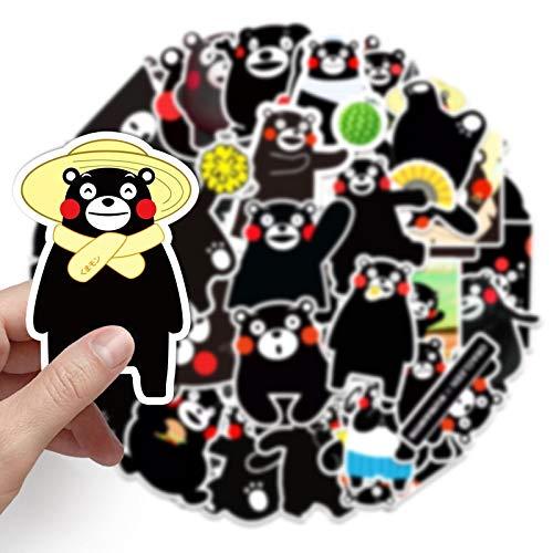 Cuenta de mano de dibujos animados Kumamoto oso impermeable botella tableta portátil casco de viaje Lee refrigerador graffiti pegatinas 50PCS