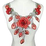 N\A Collar de Flores Collar Exquisito Rojo de Escote de Encaje Fino de Bricolaje Apliques de Bricolaje Accesorios de Vestir de Las señoras del Collar del cordón de Scrapbooking (Color : NL288)