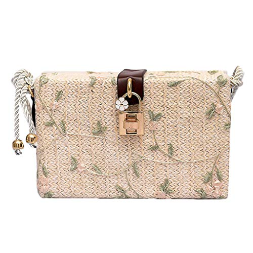 iHENGH 2019 nuovo Borsa a Spalla Stampa Donna Bag Women Simple Embroidered Canvas Shoulder Bag Crossbody Bag Borsetta Moda Casual Donna Festa