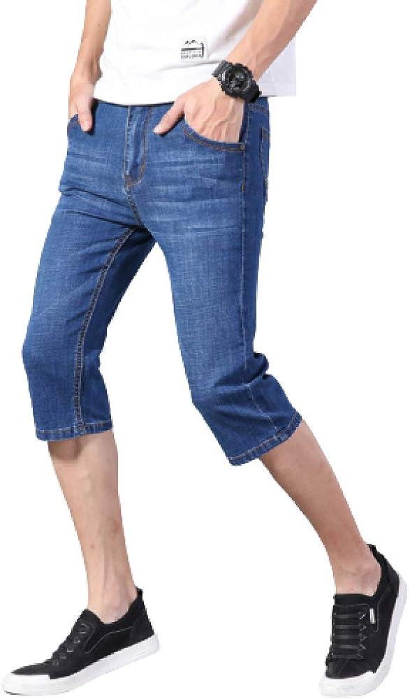 Men's Shorts Casual Large Size Fashion Summer Thin Slim Stretch Denim Shorts 31