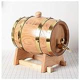 HWhome Getränkefass 1.5L/3L Vintage Eichenfass Holz Weinfass Eimerspender Home Brewing Equipment Zubehr(Size:3L)