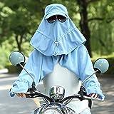 Huisongda Damen Sonnenschutzkappe UV-Schutzkappe Visier Abnehmbares Gesicht Halsklappe Schal Drei Teile Set mit UPF 50+ Rating -