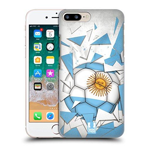 Head Case Designs Argentina Saltos de Fútbol Carcasa rígida Compatible con Apple iPhone 7 Plus/iPhone 8 Plus