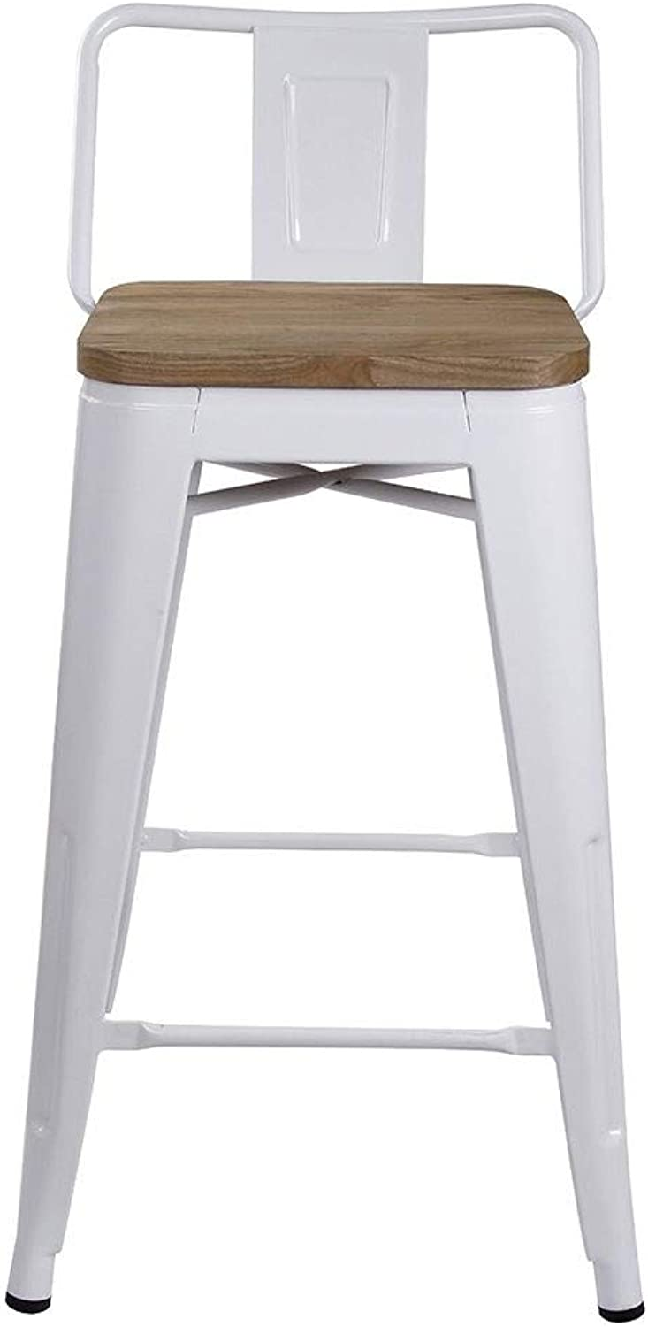 GIA M01-24B_WH 2_VC Low Back Stool, Wood Seat, 2-Pack, White Light