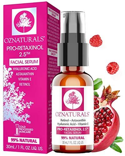 OZNaturals Anti Aging Retinol Serum: Pro-Retaxinol 2.5% Anti Wrinkle Serum