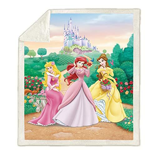 Hutuda Disney Princess - Manta de franela con diseño de princesa Disney para niñas y adultos, para sofá cama o sala de estar (01,150 x 200 cm)