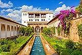 Jigsaw Puzzle, 1000 Piezas Rompecabezas de Juguete, Juegos de Rompecabezas para la Familia,Puzzle de Madera de 1000 Piezas para Adultos Jardines de la Alhambra