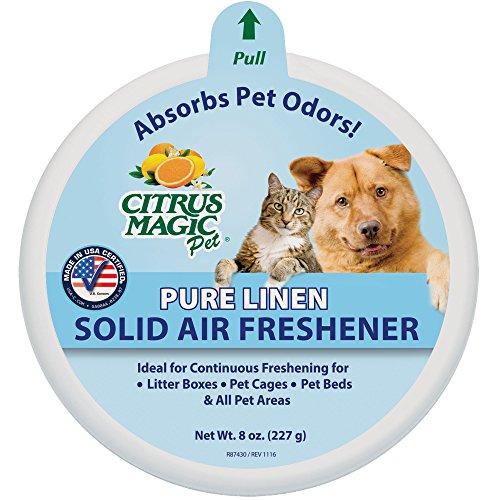 Citrus Magic Pet Odor Absorbing Solid Air Freshener Pure Linen, 8-Ounce