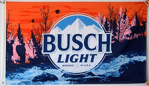 Derberha Busch Light Flag Cool Beer Flags Funny Banner for College Dorm Room Man Cave Tailgates product image