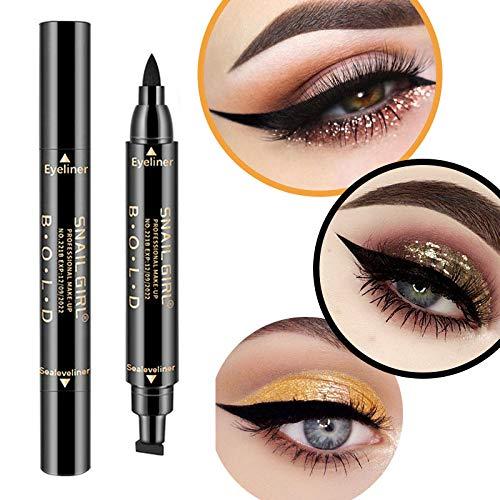 Eyeliner A Doppia estremità Eyeliner Liquido per Timbri Ad Ala Impermeabile A Doppia estremità,B
