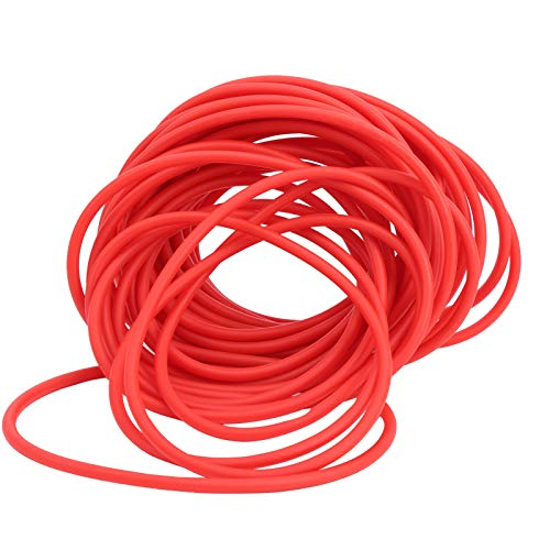 DAUERHAFT Tubo de látex con Banda de Goma rápida de resiliencia 10M Rojo, Usado para Caza con tirachinas DIY(2040)
