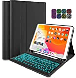 2020 New iPad Pro 11 inch Case with Keyboard, 7 Colors Backlit Keyboard with Cover for ipad Pro 11 2nd Gen & 2018 iPad Pro 11 inch with Auto Weak and Sleep - Detachable Magnetically Wireless Keyboard