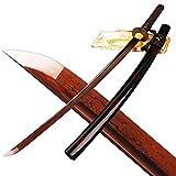 MN Sword Folded Steel Sharp Red Blade Full Tang Samurai Katana