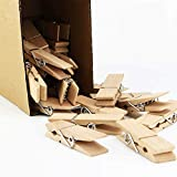EasyBravo 24Pcs Large Wooden ClothesPins, 2.83 inch Long 0.71 inch Wide, Sturdy and Heavy Duty Clothes Pegs