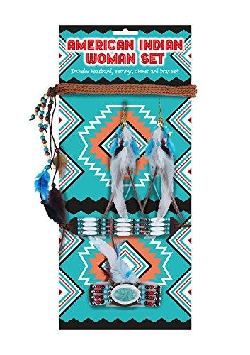 Islander Fashions Damen Indianer Native Schmuck Set 5 St�ck Damen Party Supplies Zubeh�r One Size