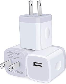 USB充電器 スマホ充電器 Hootek USBコンセント Android充電器 アイフォン充電器 USB電源アダプタ USBアダプタ AC充電器 USB 電源充電器(3個セット 軽量 コンパクト 1ポート1.1A) スマートフォン、タブレッ...