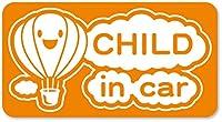 imoninn CHILD in car ステッカー 【マグネットタイプ】 No.32 気球 (オレンジ色)