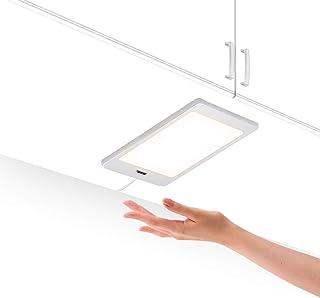 لوحة مصابيح LED رفيعة من اينيوتك توضع تحت خزائن المطبخ مع مفتاح تشغيل مستشعر لليد بدون لمس، 5 واط و450 لومن باضاءة بيضاء م...