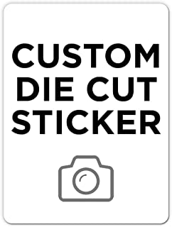 """500 Rectangle Custom Die Cut Stickers 3"""" x 4"""" for Laptops, Windows, Cell Phones, Cars. Upload Your own Image, Logo, or Des..."""