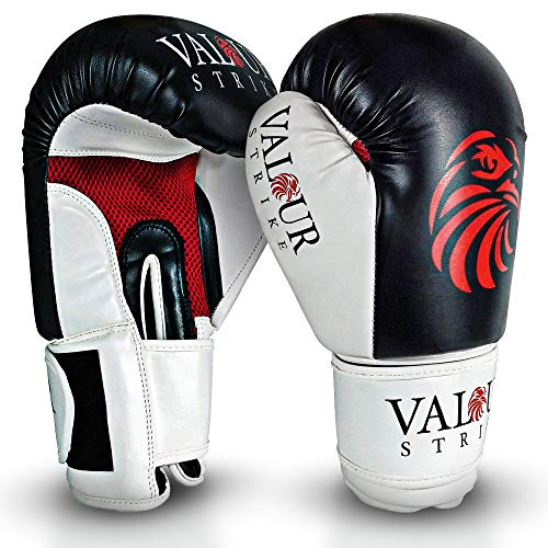 Valour Strike Boxing Gloves for Men Women Ladies Juniors & Kids | Glove Ounce set to 16oz 14oz 12oz 10oz 8oz | Pro Boxing Training Gloves for Sparring in Kickboxing MMA Muay Thai or Boxercise Training