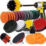 27 piezas de cepillo de taladro, tamaño y dureza, esponja de alta calidad, con fijación prolongada, cepillo de limpieza para lechada, azulejos, fregaderos, bañera, cocina FDWFN