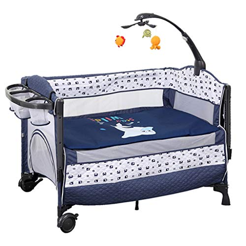 Buy Rocking Chair Portable Baby Basket Infant Travel Bed Sleeper Newborn Multi-Function Appease Shaker Baby Nursery Game Bed Suitfor 0-36 Months Bed (Color : Blue)