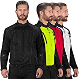 Viking Cycle Textile Warlock Mesh Motorcycle Jacket for Men – Removable Armor, Summer Riding Gear (Black, XX-Large)